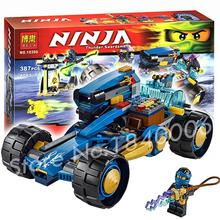 386pcs 2016 Bela 10396 Ninja Jay Walker One Minifigures toys Building Bricks Figures Kids Education Compatible with Lego