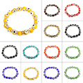 New Arrival Wholesale Price Evil Eye Rhinestone Spacer Jewelry Bracelet Colorful 10mm Handmade Lampwork Beaded Bracelets Woman