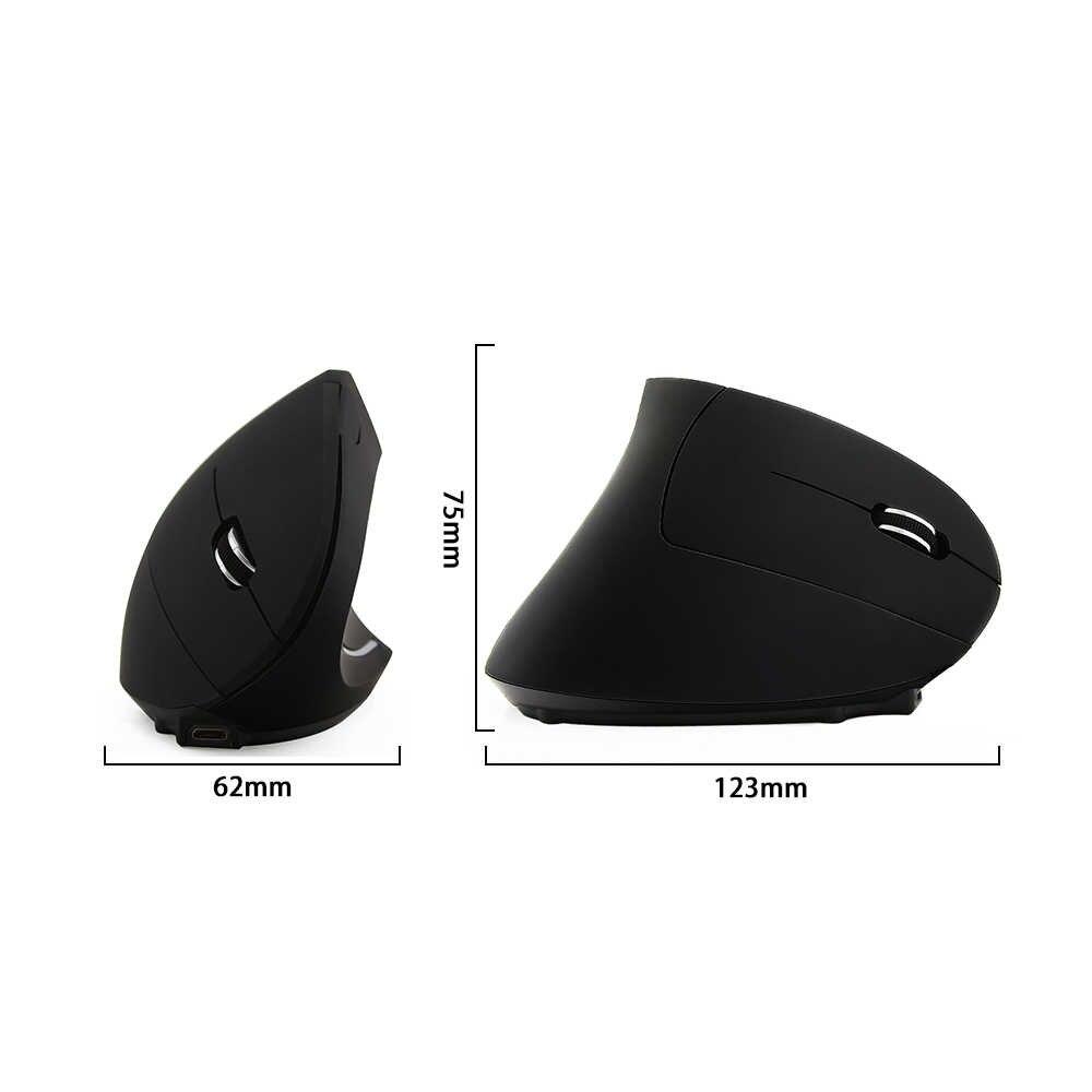 Souris ergonomique sans fil avec repose-poignet souris 6D souris optique verticale 800/1200/1600 DPI souris de jeu d'ordinateur pour ordinateur portable PC