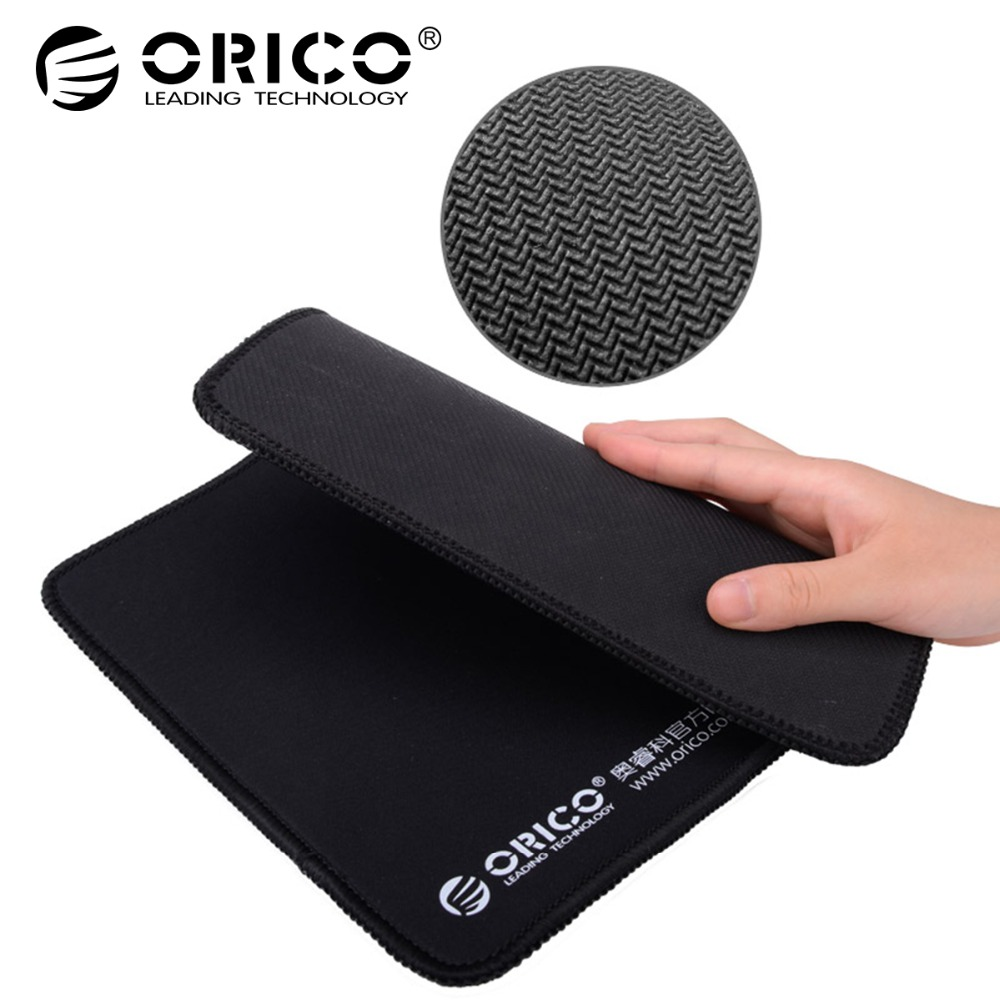 ORICO MPS3025-BK Natural Rubber Cloth Home Office Game Mouse Pad Thick 5mm Durable Beautiful-Black cloth eva computer mouse pad grass green black