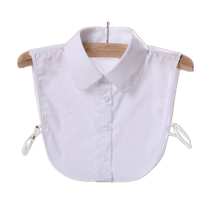 Blouses Shirt Women Fake Collar Vintage Faux Shirt Tie Lace Chiffon Detachable Collar Ladies Tops White Shirt Fake Collar Q1124