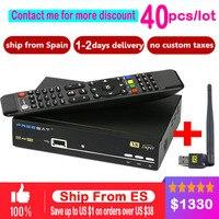 40PCS HD Freesat V8 Super DVB S2 Satellite Receiver Full 1080P Recepto PowerVu BissKey CLINES Newcamd