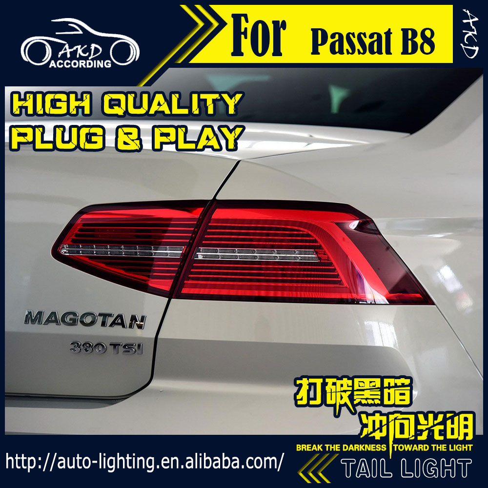 AKD Car Styling Tail Lamp for VW Passat B8 Tail Lights Passat Europe LED Tail Light