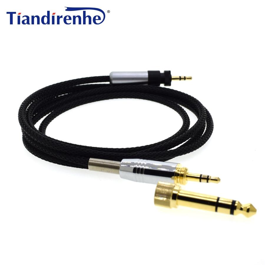 Kabel fon kepala yang ditingkatkan untuk SHURE 840 SRH440 SRH940 SRH750DJ Audio Suis Penggantian Wire 6.35 / 3.5mm Male ke 2.5mm Male