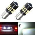 2 pcs Carro LEVOU Luz BA9s 3014 30smd Car License Plate luzes de Bulbo Da Lâmpada Super Bright Pure White 6000 K Carro DC12-24V Styling