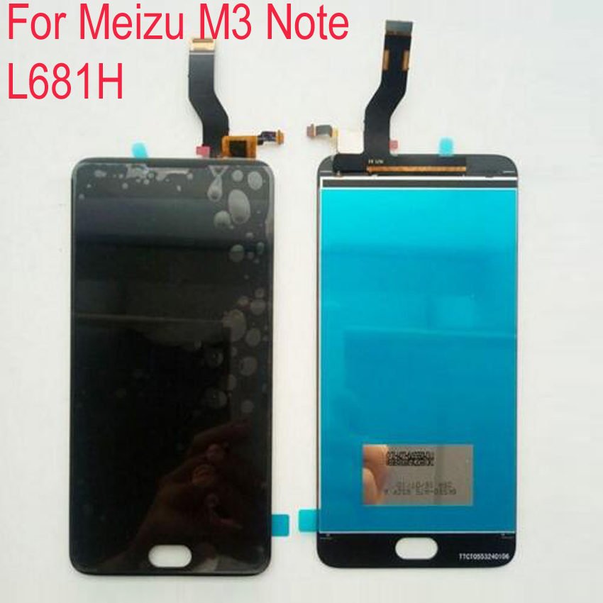 ФОТО 100% Warranty LCD Display+Touch Screen Digitizer Assembly For Meizu M3 Note L681H Cell Repair Part Black white