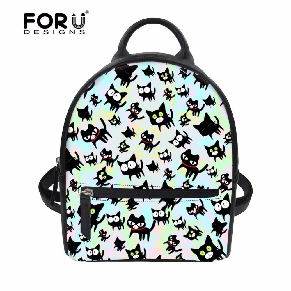 135af3e292 FORUDESIGNS Small Travel Backpack Women Cute Cartoon Animal Cat 3D Print  School Backpacks for Teen Girls Female Casual Rucksack