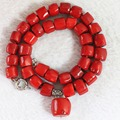 Fashion red natural coral stone 10-15mm irregular beads with pendant jewelry necklace for women elegant party gifts 18inch B725