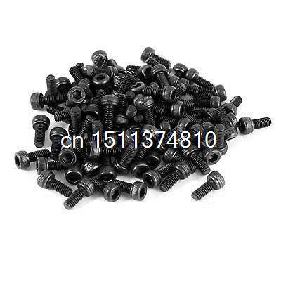 100 Pcs 12.9 Steel Alloy Hex Socket Pan Head Knurled Cap Screw Bolt M2.5x6 free shipping xc3020 50pc68i new original and goods in stock
