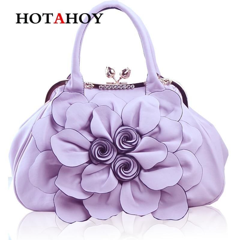 Fashion Rose Flower Big Shoulder Cross-body Handbag Casual All-match Handbag Messenger Bag carhartt cross body carry all
