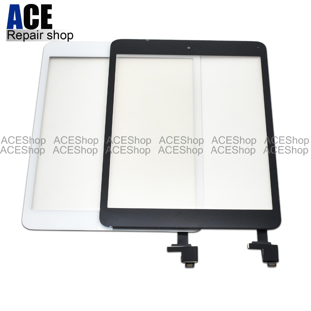 50PCS Front LCD Touch Screen Glass Panel Digitizer with IC Connector Home Button for iPad Mini