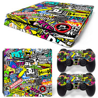 OSTSTICKER New Scrawl Vinyl Skin Sticker for sony playstation 4 Slim China manufacturer