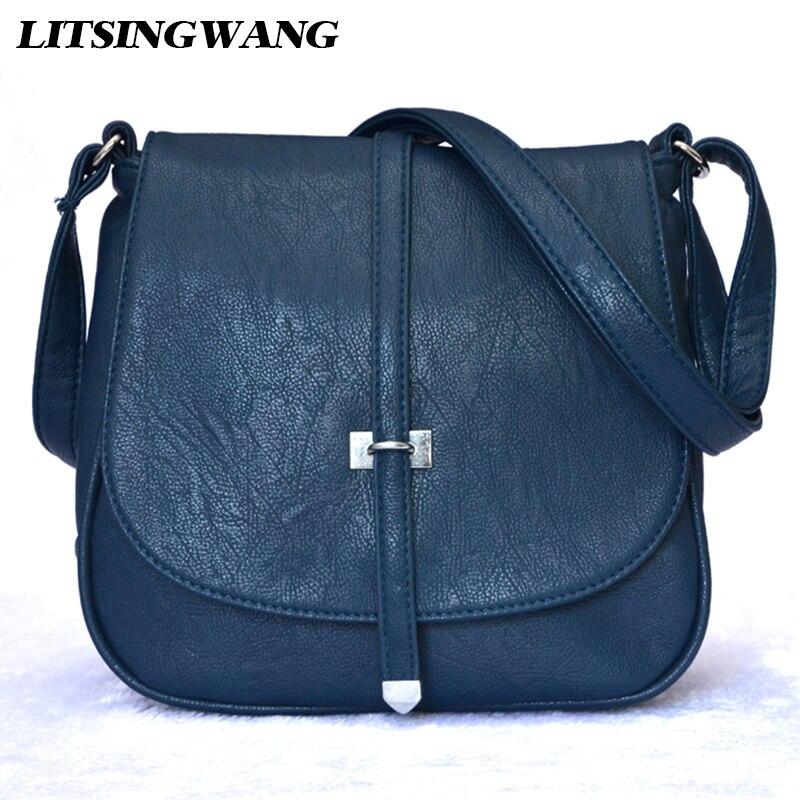 LITSINGWANG Brand Women-messenger-bags Crossbody Bags for Women Female-bag Ladies PU leather Handbags Woman Small Shoulder Bag