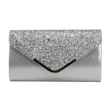 купить Women's Sequined Clutch Evening Purse Chain Wallet Party Prom Wedding Envelope Phone Handbag по цене 566.26 рублей