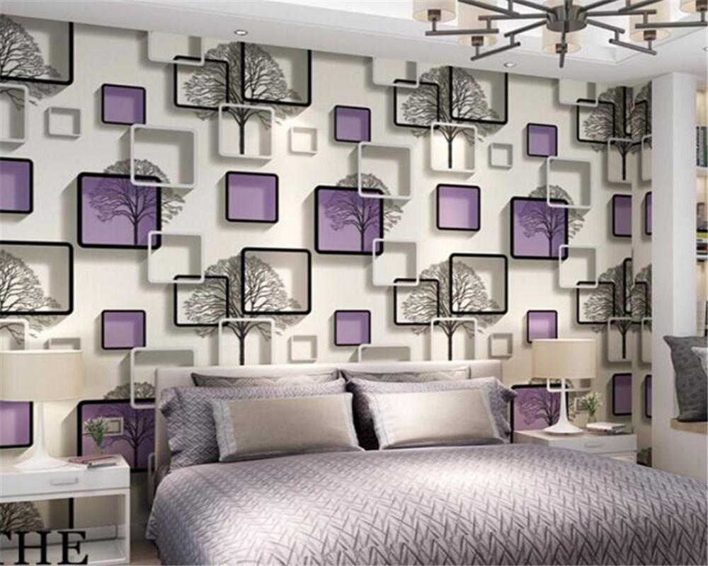 Beibehang 3D Wallpaper Cubic Wallpaper Abstract Black and White Tree Wallpaper Bedroom Living Room TV Background papel de parede beibehang abstract black and white branches non woven wallpaper tree trunk tree birch forest background wall papel de parede