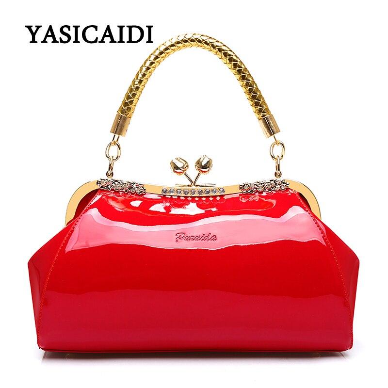 Модные женские туфли сумка высокое качество женская сумка большая Ёмкость Лакированная кожа Для женщин Сумки дизайнерские алмазы женские ...
