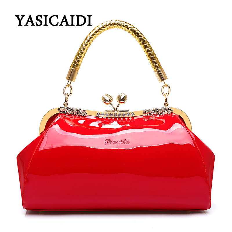 цена на Fashion Women Shoulder Bag High Quality Female Bag Large Capacity Patent Leather Women Handbags Designer Diamonds Ladies Bags