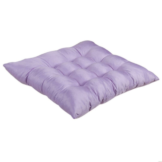 Us 4 08 14 Off Soft Home Office Seat Polyester Cotton Seat Cushion Seat Cushion Pads Bright Purple In Cushion From Home Garden On Aliexpress Com