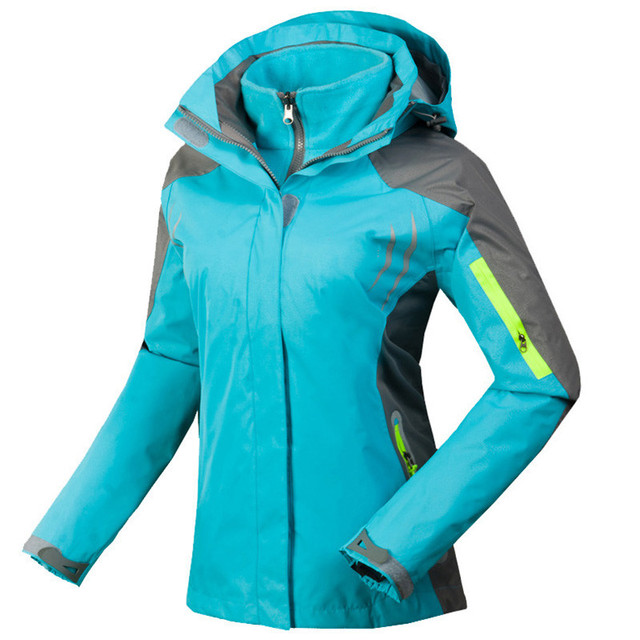965d9e4ea6 Womens Waterproof Hiking Jacket Outdoor Windproof Breathable Reflective Coat  Female Winter Thermal Ski Snowboard 3 in 1 Jackets