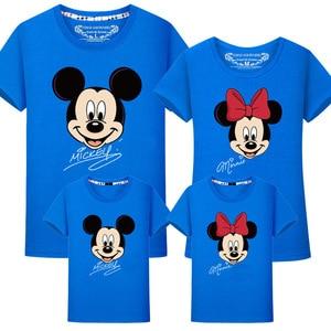 Image 5 - Ropa a juego para la familia, camiseta de Minnie y Mickey de algodón para papá e hija, camisa de trajes a juego, camiseta de aspecto familiar de maman fille