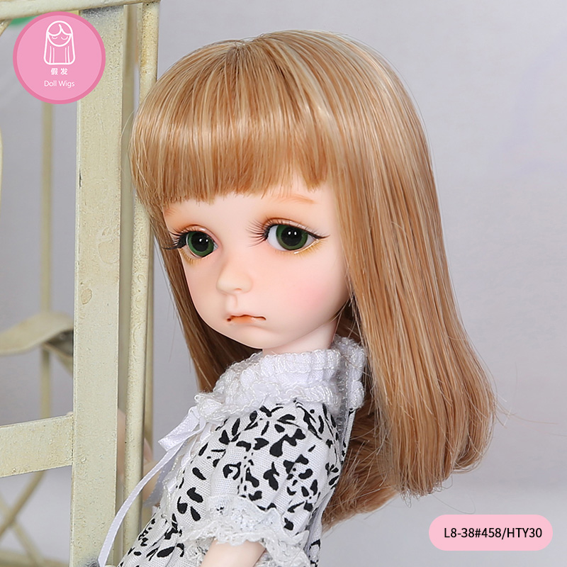 Free Shipping BJD Wig 1/8 Long Hair Brown Color High Temperature For BJD Dolls 4.5-6 Inch For Boy Girl Oueneifs Doll Accessories