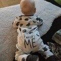 Otoño 2017 Nuevo mameluco del bebé de manga larga de Punto mono Recién Nacido del bebé niños niñas ropa de bebé ropa infantil