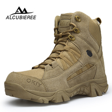 hot deal buy alcubieree winter fashion military boots mens comfortable ankle boots men work shoes army desert combat boots men snow footwear