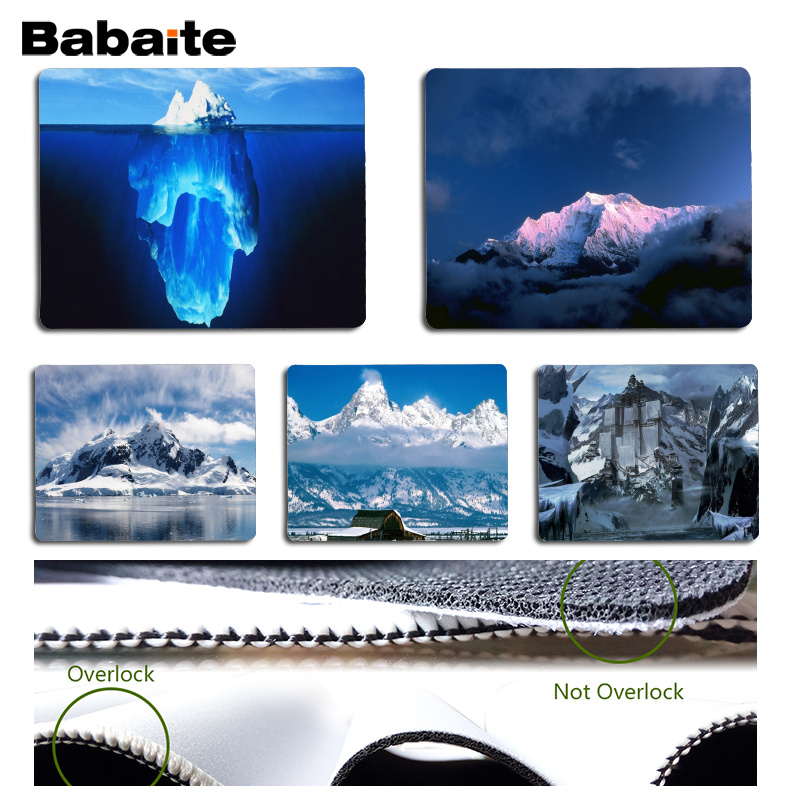Babaite New Arrivals Iceberg Computer Gaming Mousemats Size for 180x220x2mm and 250x290x2mm Small Mousepad
