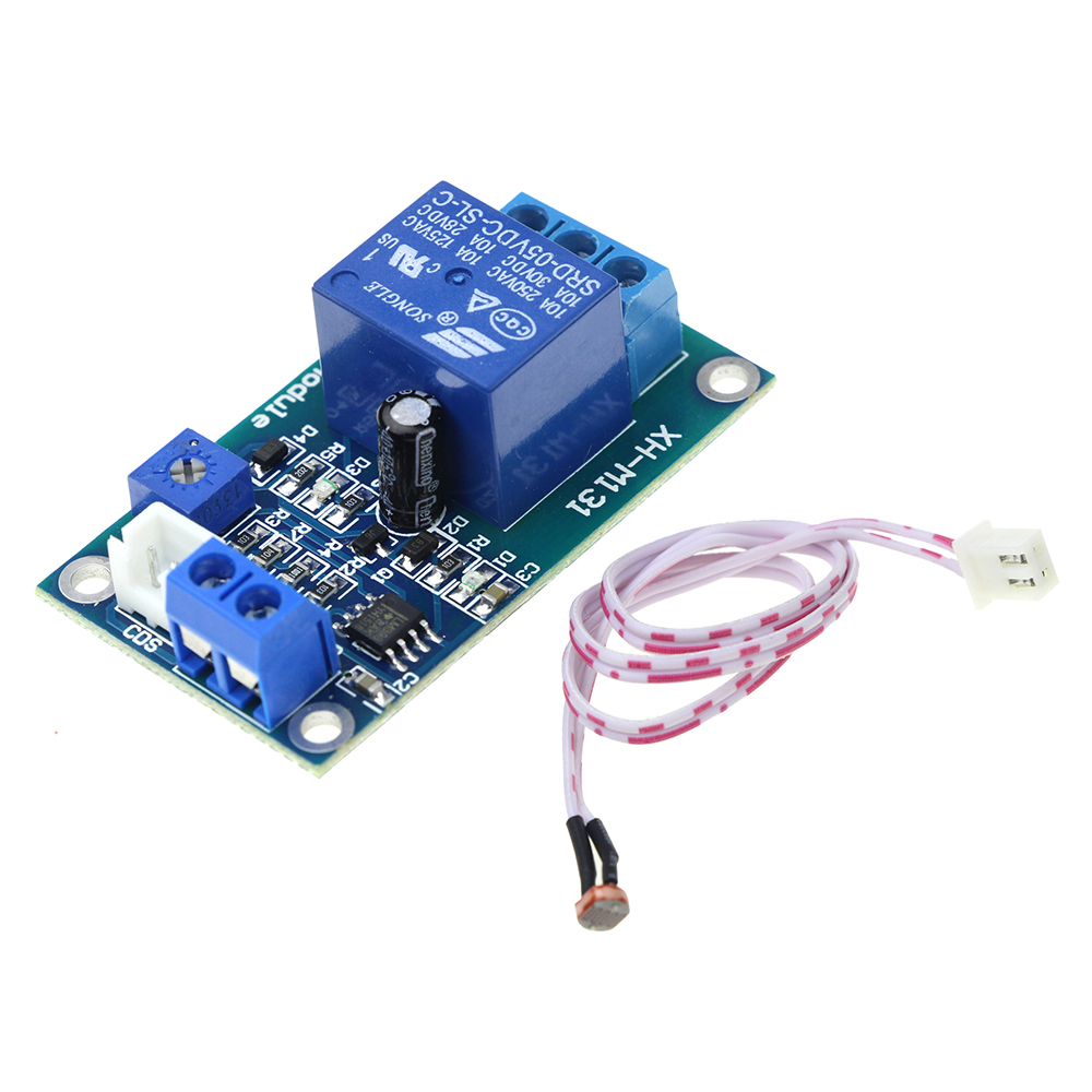 DC 5V Light Control Switch Photoresistor Relay Module Detection Sensor XH-M131 dc 24v photoresistor module relay light detection sensor light control switch s018y high quality