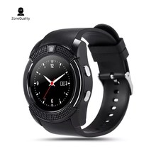 Zonequality V8 спортивные Смарт-часы с механизмом, поддержка SIM TF kaart клок Камера вызова НТС Грааф Slaap herinneren для андроид telefoo