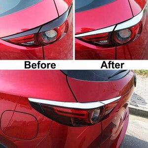 Image 2 - AX רכב סטיילינג כרום אחורי זנב אור מנורת כיסוי לקצץ רצועות גבות עפעף קישוט מגן עבור מאזדה Cx 5 Cx5 KF 2017 2019