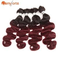 Remy Forte Hair Pre Colored Brazilian Body Wave Crochet Braids Human Hair 4 Bundles Deal Bulk Human Hair For Braiding Ombre 99J