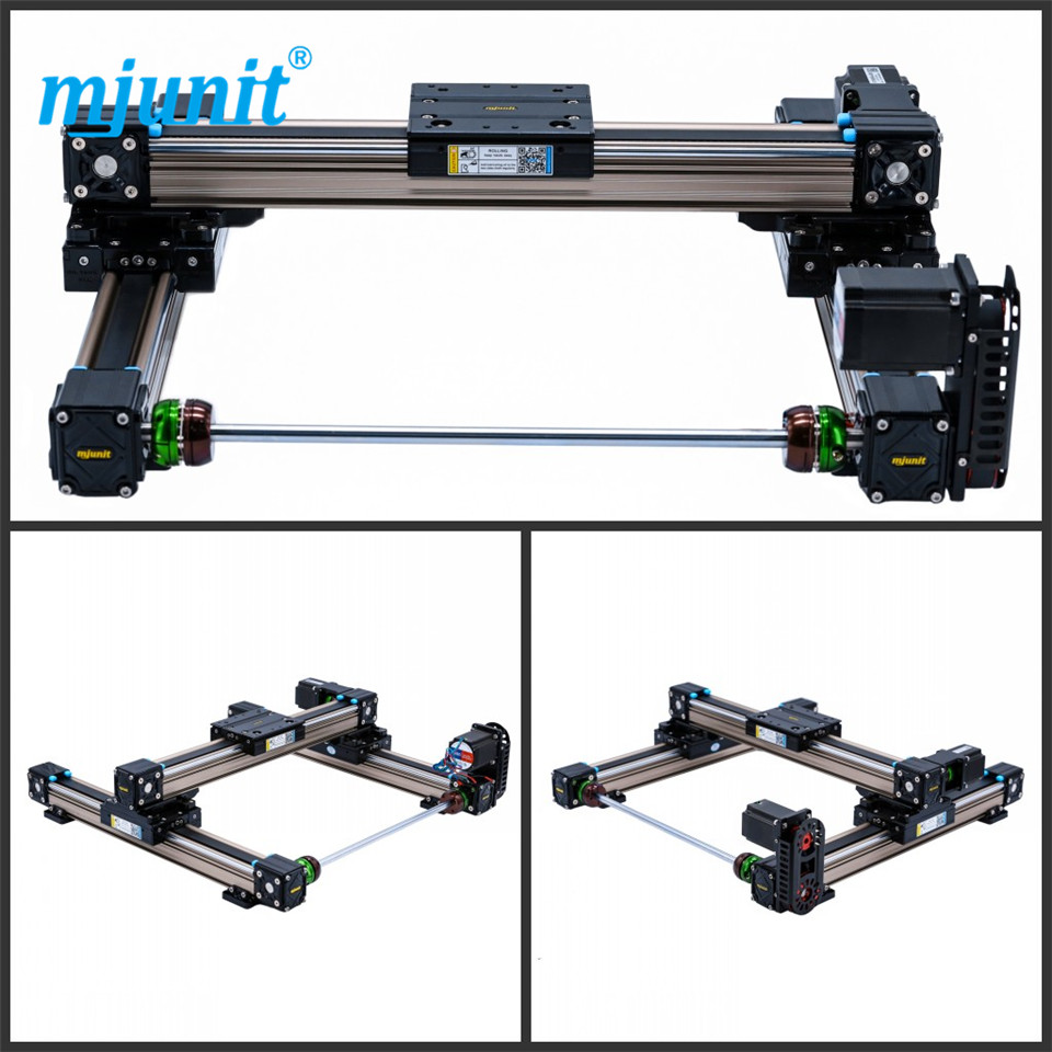mjunit MJ50 xy axis with 600x600mm stroke length linear guide kit rail motion guideway xy table flat