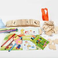 Kids Drawing Toy Children's Educational Toys 3 5 7 Years Old Painting Set Wood Jigsaw Puzzle Panel To Draw Graffiti Paint