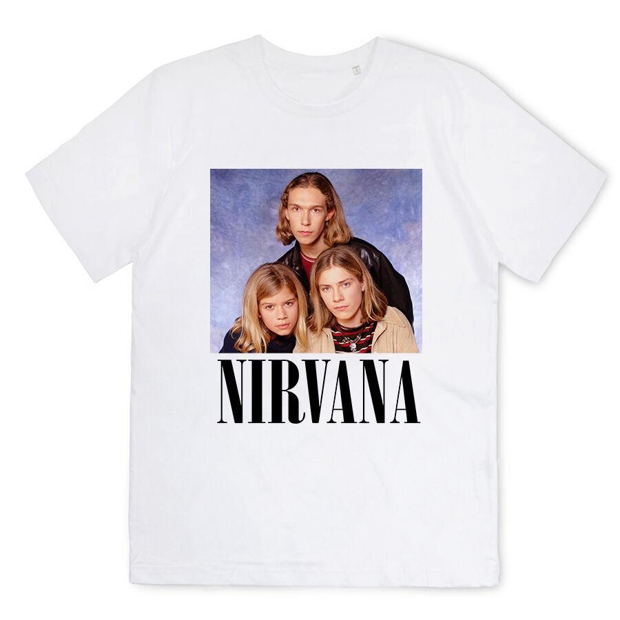 T-shirt Homme-Nirvana parodie frères hanson musique rock grunge pop france