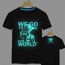 One piece T Shirt Luffy Zoro fluorescent t shirt men one piece Tees Tops Men Clothes