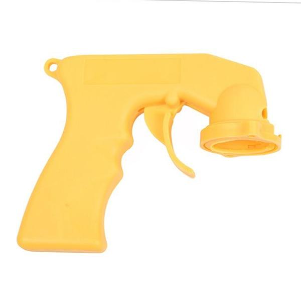 EAFC спрей адаптер для ухода за краской аэрозоль пистолет ручка с полным захватом Блокировка курка воротник уход за автомобилем - Цвет: Yellow