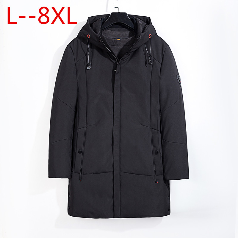 Plus size 8XL 6XL 5XL 4XL 2018 Thicken Warm Winter Duck Down Jacket for Men Parkas Hooded Coat Plus Size Overcoat Western Style