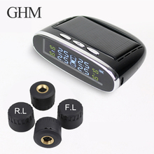 Tire Pressure Monitoring System Tpms Temperature Warning With Car Security Smart Tyre Control Wireless 4 Wheels External LED