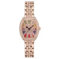 Новые женские часы из розового золота в римском стиле, кварцевые часы с полным бриллиантом, женские часы, водонепроницаемые часы со стальны