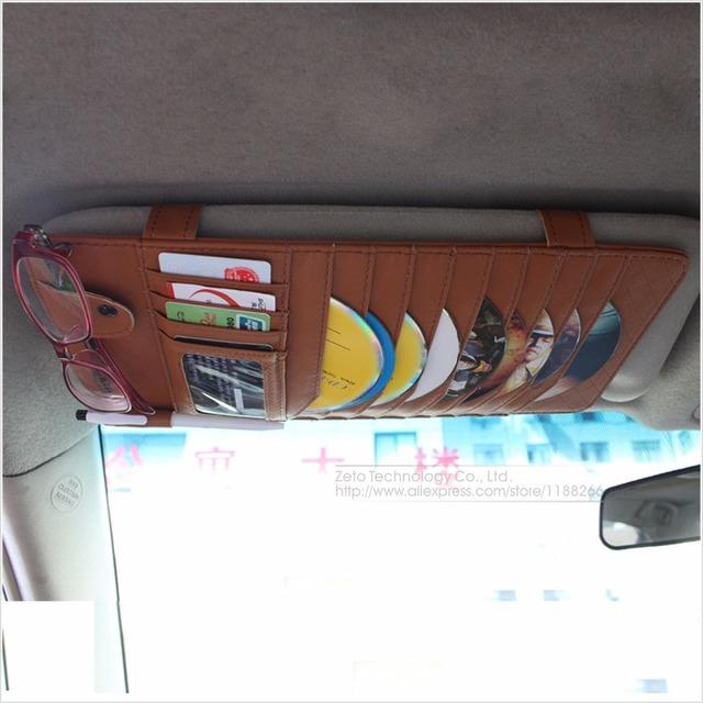 Novos Discos CD Carro Titular Auto Viseira CD DVD Disco Caso do cartão Saco Clipper Car Styling Interior Tampa do Organizador Estiva Tidying