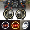 4 Inch LED Auxiliary Fog Lights With Halo Ring Red Demon Eyes 4 Front Bumper Light