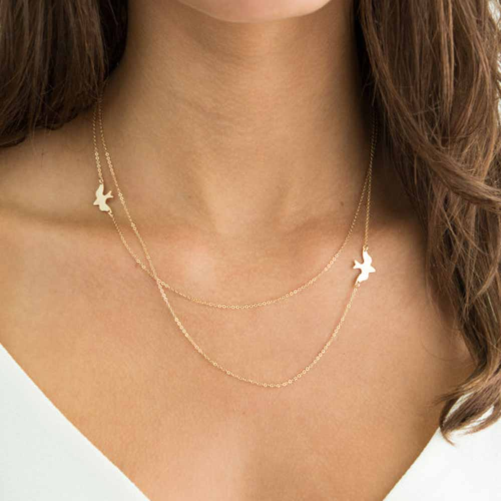 2019 New Fashion Simple Dainty Gold Choker Karma Necklace Bohemian Jewelry Gifts for Her