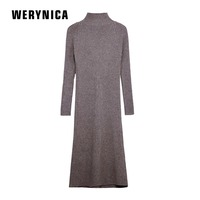 Werynica Chic Women Sweater Dress 2018 Fall Winter Long Slim Dresses Casual Solid Pull Femme Elastic Ribbed Skinny Knitted Dress
