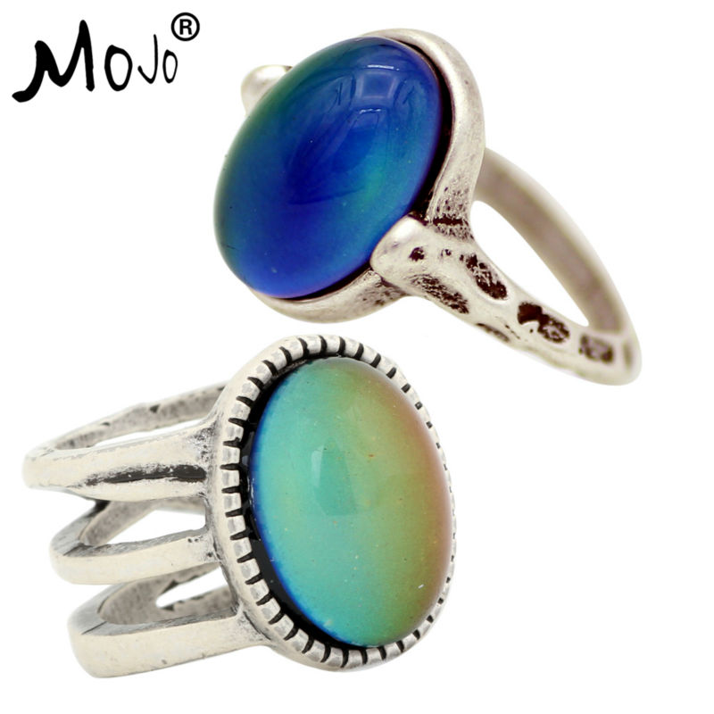 Ring-Set Mood-Ring Jewelry Fingers Strength Changes-Color Vintage Women Wedding for RS050-018