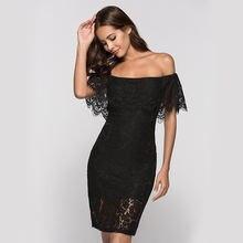 Женское кружевное платье с открытой спиной однотонное вырезом