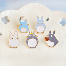 Cute Cartoon 5 Different Style White Blue Gray Chinchillas Golden Enamel Brooch Overcoat Backpack Trendy Charm