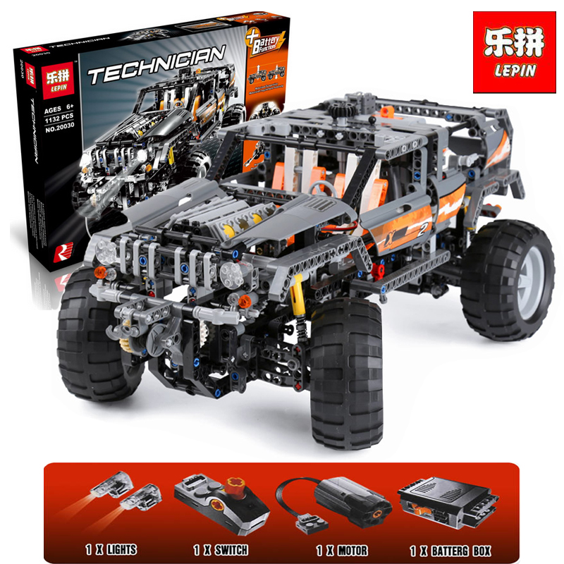 Lepin 20030 Technic OFF ROADER Building Blocks With Electric Motors Power Functions Model Bricks Compatible With legoinglys 8297 lepin 20030 technic ultimate series the 1132pcs off roader set children educational building blocks bricks toys model gifts 8297