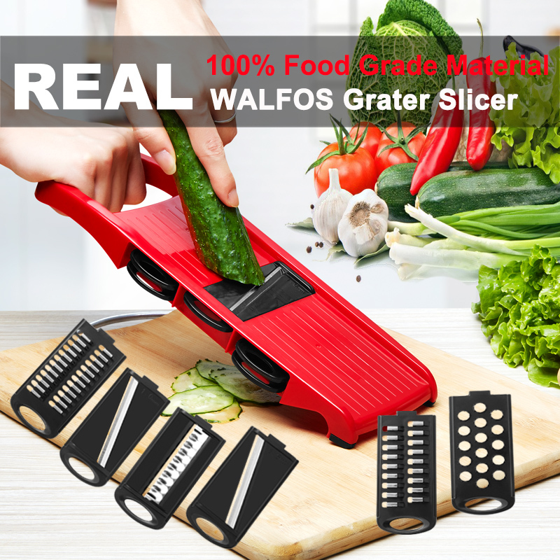 Plastic Vegetable Fruit Slicers & Cutter With Adjustable Stainless Steel Blades Carrot Potato Onion Grater CKC1363
