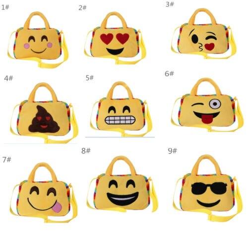 Faroot emoji/Модная Уход за кожей лица выражение детей плюшевая сумка через плечо Школьные ранцы для подростков Обувь для девочек сумки Сумки для...
